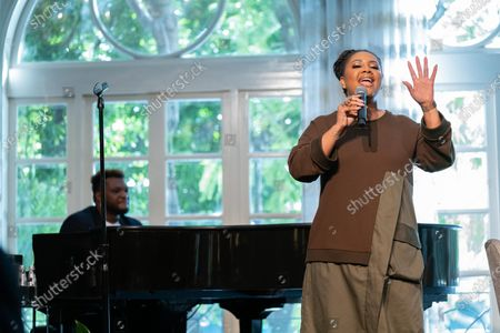 Lalah Hathaway performs at 'A World Of Good' presented by In A Perfect World at the Four Season in Beverly Hills