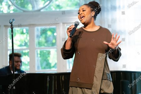 Stock Image of Lalah Hathaway performs at 'A World Of Good' presented by In A Perfect World at the Four Season in Beverly Hills