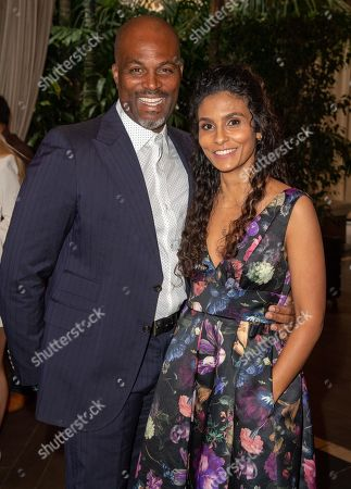 Chris Spencer and Manuela Testolini attends 'A World Of Good' presented by In A Perfect World at the Four Season in Beverly Hills
