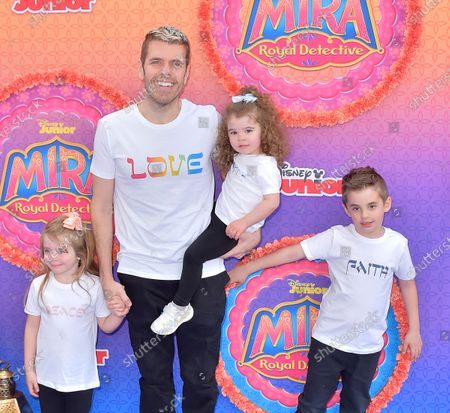 Stock Picture of Perez Hilton, Mario Lavandeira and Mia Alma Lavandeira