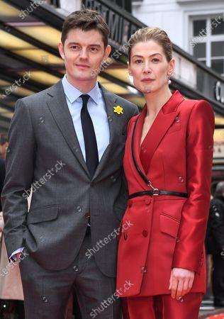 Sam Riley and Rosamund Pike