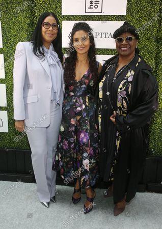 Stock Image of Cookie Johnson, Manuela Testolini, LaTanya Richardson