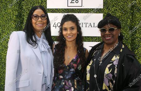 Stock Photo of Cookie Johnson, Manuela Testolini, LaTanya Richardson