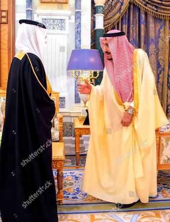 Saudi King Salman receives a newly appointed Saudi ambassador at his palace in Riyadh, Saudi Arabia, . Two senior princes in Saudi Arabia are under arrest for not supporting Crown Prince Mohammed bin Salman, who has consolidated control of all major levers of power with the support of his father, King Salman, two people close to the royal family said Saturday