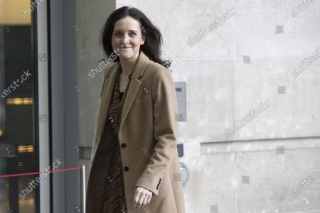 Stock Picture of MP for Chipping Barnet Theresa Villiers arrives at BBC Broadcasting House