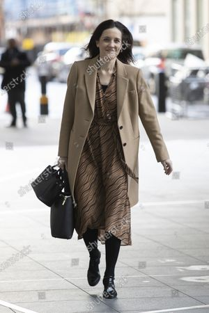 MP for Chipping Barnet Theresa Villiers arrives at BBC Broadcasting House