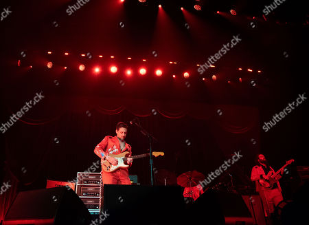 Sturgill Simpson performs on stage at The Infinite Energy Arena, in Duluth, Ga