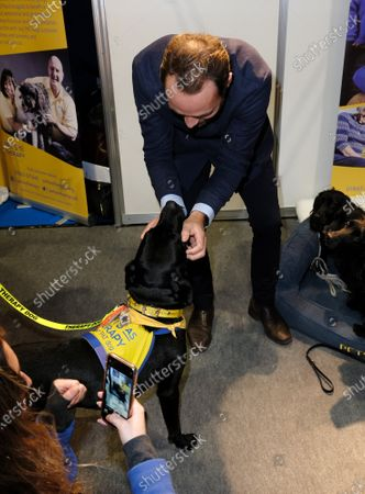 James Middleton visiting the Pets As Therapy stand at day 4 of Crufts 2020 held at the NEC Birmingham.