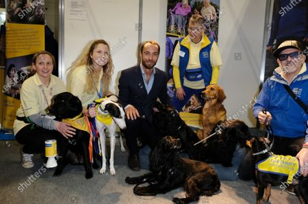 Stock Photo of James Middleton visiting the Pets As Therapy stand at day 4 of Crufts 2020 held at the NEC Birmingham.