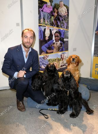 Stock Image of James Middleton visiting the Pets As Therapy stand at day 4 of Crufts 2020 held at the NEC Birmingham.