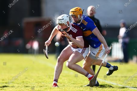 Galway vs Tipperary. Galway's Darren Morrissey with Tipperary's Cian Darcy