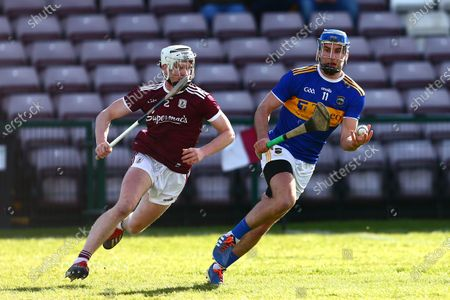 Stock Picture of Galway vs Tipperary. Tipperary's John McGrath with Galway's Darren Morrissey