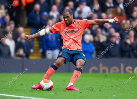 Djibril Sidibe of Everton in action