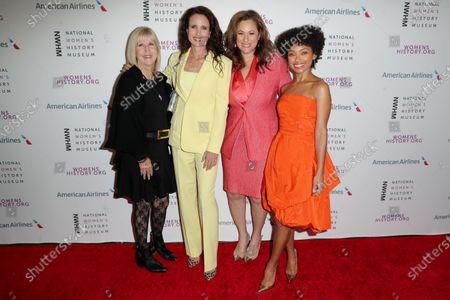 Dr. Nancy D. O'Reilly, Andie MacDowell, Kelly Vlahakis-Hanks and Logan Browning