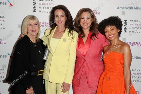 Dr. Nancy D. O'Reilly, Andie MacDowell, Kelly Vlahakis-Hanks and Logan Browning