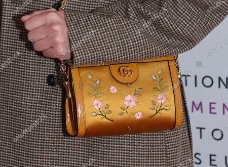Rainey Qualley, bag detail