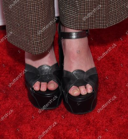 Rainey Qualley, shoe detail