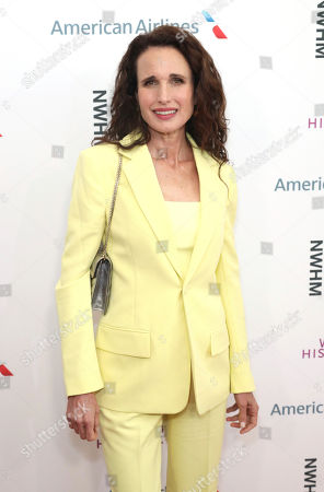 Andie MacDowell arrives at the Eighth Annual Women Making History Awards at the Skirball Cultural Center, in Los Angeles