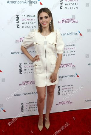 Edy Ganem arrives at the Eighth Annual Women Making History Awards at the Skirball Cultural Center, in Los Angeles