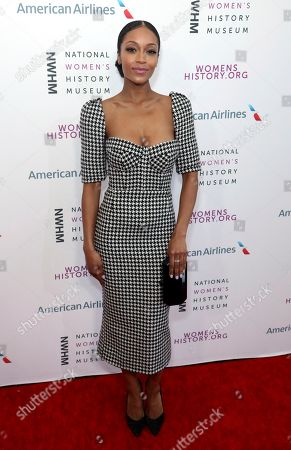 Yaya DaCosta arrives at the Eighth Annual Women Making History Awards at the Skirball Cultural Center, in Los Angeles