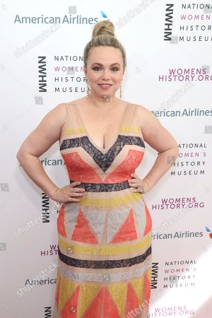 Amanda Fuller arrives at the Eighth Annual Women Making History Awards at the Skirball Cultural Center, in Los Angeles