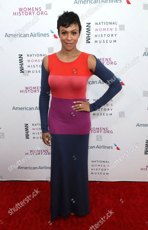 Carly Hughes arrives at the Eighth Annual Women Making History Awards at the Skirball Cultural Center, in Los Angeles