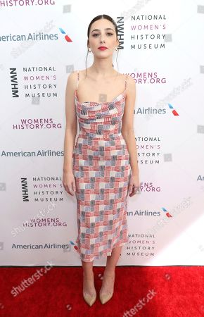 Stock Picture of Natalie Dreyfuss arrives at the Eighth Annual Women Making History Awards at the Skirball Cultural Center, in Los Angeles