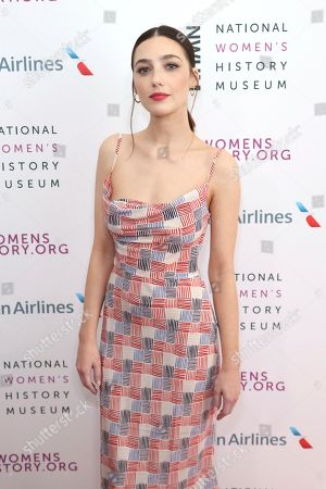 Natalie Dreyfuss arrives at the Eighth Annual Women Making History Awards at the Skirball Cultural Center, in Los Angeles