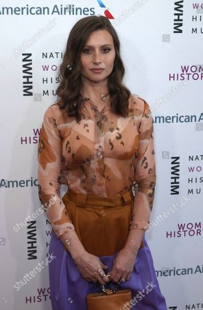 Stock Image of Aly Michalka arrives at the Eighth Annual Women Making History Awards at the Skirball Cultural Center, in Los Angeles