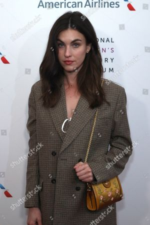 Rainey Qualley arrives at the Eighth Annual Women Making History Awards at the Skirball Cultural Center, in Los Angeles