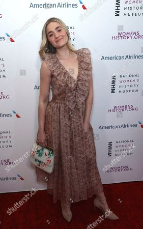 AJ Michalka arrives at the Eighth Annual Women Making History Awards at the Skirball Cultural Center, in Los Angeles