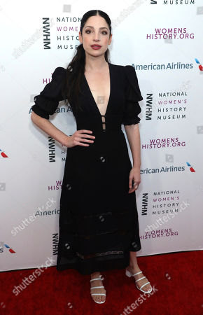 Anna Hopkins arrives at the Eighth Annual Women Making History Awards at the Skirball Cultural Center, in Los Angeles