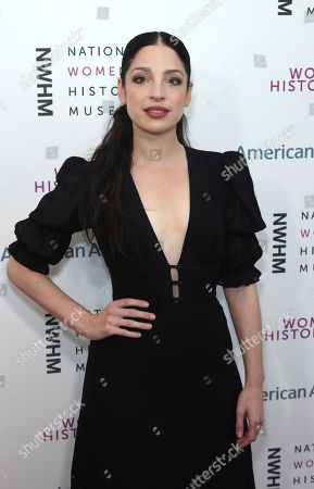 Stock Photo of Anna Hopkins arrives at the Eighth Annual Women Making History Awards at the Skirball Cultural Center, in Los Angeles