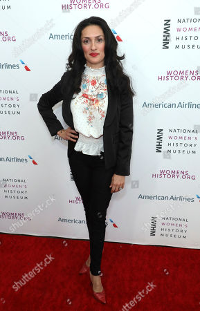 Mirelly Taylor arrives at the Eighth Annual Women Making History Awards at the Skirball Cultural Center, in Los Angeles