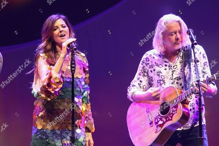 Karen Fairchild, Phillip Sweet. Karen Fairchild and Phillip Sweet with Little Big Town performs at the Fox Theatre, in Atlanta