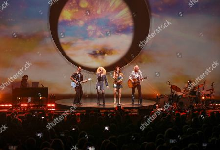 Stock Picture of Karen Fairchild, Kimberly Schlapman, Phillip Sweet, Jimi Westbrook. Karen Fairchild, Kimberly Schlapman, Phillip Sweet and Jimi Westbrook with Little Big Town performs at the Fox Theatre, in Atlanta