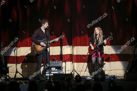 Stock Image of Caitlyn Smith performs as the opener for Little Big Town at the Fox Theatre, in Atlanta