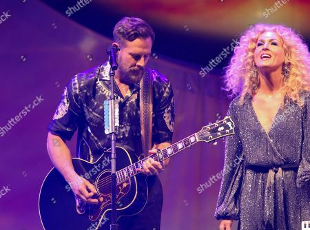 Karen Fairchild, Jimi Westbrook. Kimberly Schlapman and Jimi Westbrook with Little Big Town performs at the Fox Theatre, in Atlanta