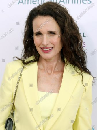 US actress Andie MacDowell arrives on the red carpet for the Eighth Annual Women Making Histor Awards at the Skirball Cultural Center in Los Angeles, California, USA, 08 March 2020.