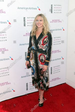 Stock Picture of US actress Laura Bell Bundy arrives on the red carpet for the Eighth Annual Women Making History Awards at the Skirball Cultural Center in Los Angeles, California, USA, 08 March 2020.