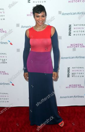 US actress Carly Hughes arrives on the red carpet for the Eighth Annual Women Making History Awards at the Skirball Cultural Center in Los Angeles, California, USA, 08 March 2020.