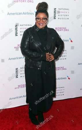 US actress Yvette Nicole Brown arrives on the red carpet for the Eighth Annual Women Making History Awards at the Skirball Cultural Center in Los Angeles, California, USA, 08 March 2020.