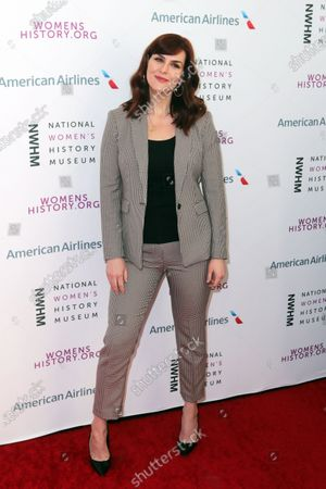 US actress Sara Rue arrives on the red carpet for the Eighth Annual Women Making History Awards at the Skirball Cultural Center in Los Angeles, California, USA, 08 March 2020.