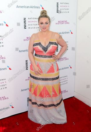 Stock Image of US actress Amanda Fuller arrives on the red carpet for the Eighth Annual Women Making History Awards at the Skirball Cultural Center in Los Angeles, California, USA, 08 March 2020.