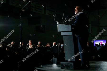 Former Democratic presidential candidate and former Massachusetts Gov. Deval Patrick stumps for Democratic presidential candidate and former Vice President Joe Biden at Tougaloo College in Tougaloo, Miss