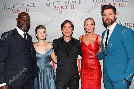 Djimon Hounsou, Millicent Simmonds, Cillian Murphy, Emily Blunt and John Krasinski