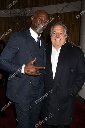 Djimon Hounsou and Jim Gianopulos (CEO; Paramount Pictures)