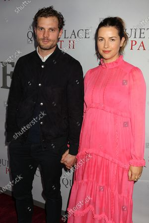 Stock Picture of Jamie Dornan and Amelia Warner
