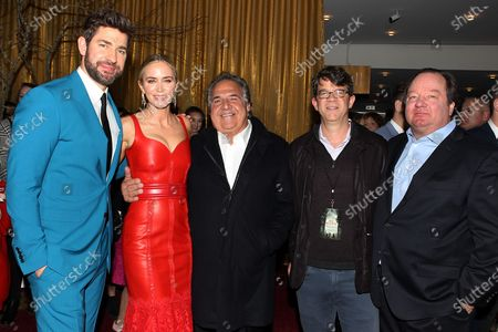 John Krasinski, Emily Blunt, Jim Gianopulos (CEO; Paramount Pictures), Wyck Godfrey, Bob Bakish (Pres. & CEO; Viacom)