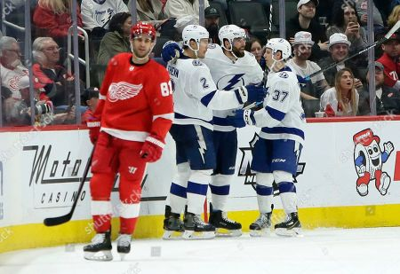 Editorial photo of Lightning Red Wings Hockey, Detroit, USA - 08 Mar 2020